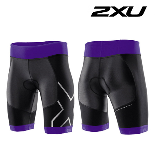 2XU 철인3종 경기복  2XU Women's G:2 Compression Tri Short (WT2703b) Purple Hue Charcoal