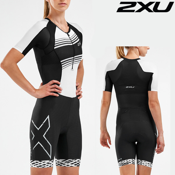 2XU 철인3종 경기복(원피스타입) Women's Compression Sleeved Trisuit-WT55221d-BLK/BWL