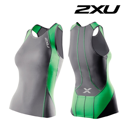 2XU 철인3종 경기복  Women's Perform Tri Singlet (WT2851a) Charcoal/Astro Green