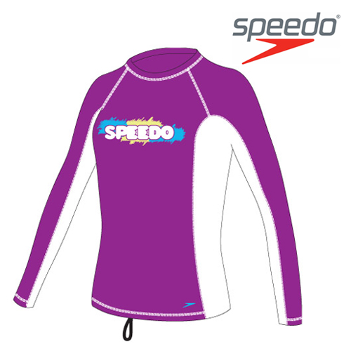 수입스피도 여아동 래쉬가드Youth Girl Fashion Rashguard L/S SRJ-SB130(PU)