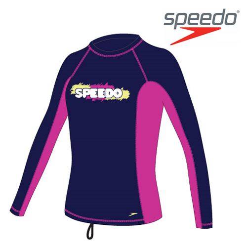 수입스피도 여아동 래쉬가드Youth Girl Fashion Rashguard L/S SRJ-SB120(NV)