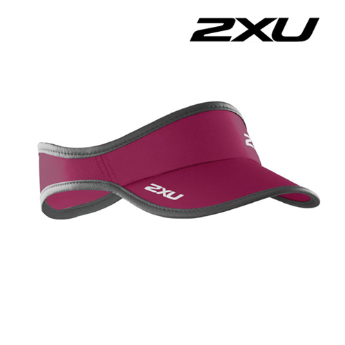 2XU Run Visor(런바이저)-Barberry/Ink