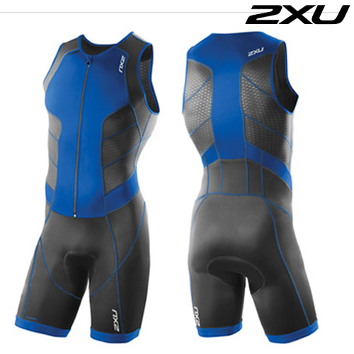2XU 철인3종 경기복  Men's Perform Full Front Zip Tri Suit - 2016  MT3859d(Coblt Blue)