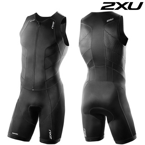 2XU 철인3종 경기복  Men's Perform Full Front Zip Tri Suit - 2016  MT3859d(Black)
