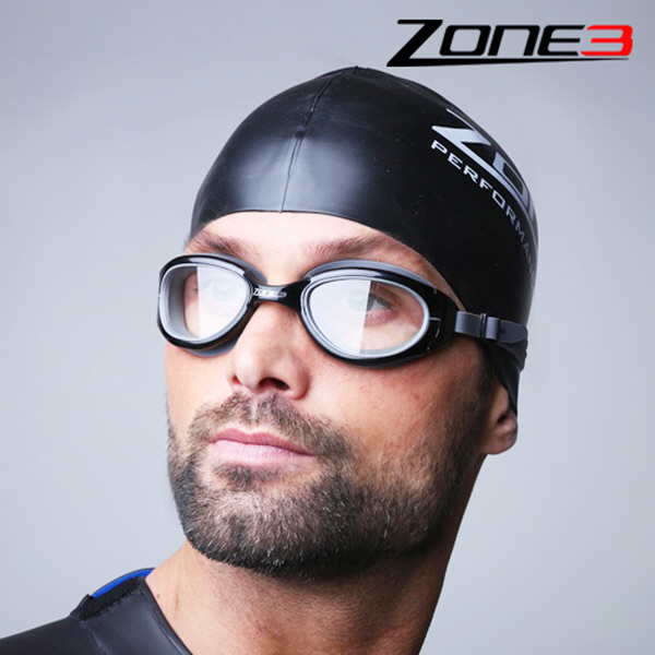 Zone3 변색렌즈 오픈워터 수경 Attack Goggles (BLK)