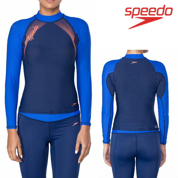 스피도 여자 래쉬가드SPEEDO FEMALE FASHION RASHGUARD L/S SRA-SF150(NV)