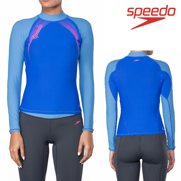 스피도 여자 래쉬가드SPEEDO FEMALE FASHION RASHGUARD L/S SRA-SF160(LB)