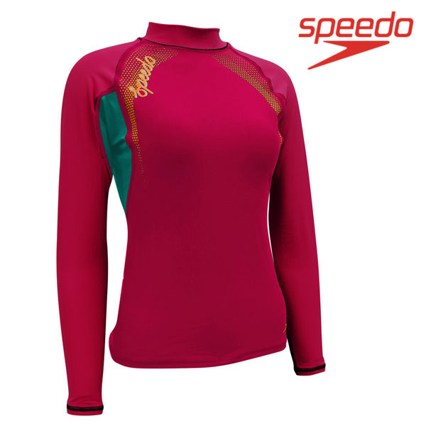 스피도 여자 래쉬가드SPEEDO FEMALE FASHION RASHGUARD L/S SRA-SF170(RD)