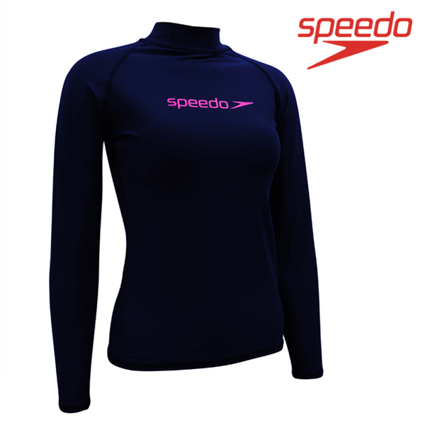 스피도 여자 래쉬가드SPEEDO FEMALE CLASSIC RASHGUARD L/S SRA-SF190(NV)