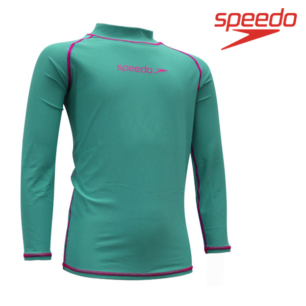 스피도 여아동 래쉬가드SPEEDO YOUTH GIRL CLASSIC RASHGUARD L/S SRJ-SF130(LB)