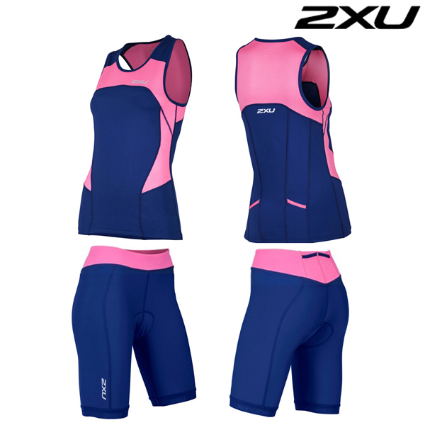 2XU(투엑스유)철인3종 경기복 Woman's Active Tri Set-WT4374b(FNP_NVY)
