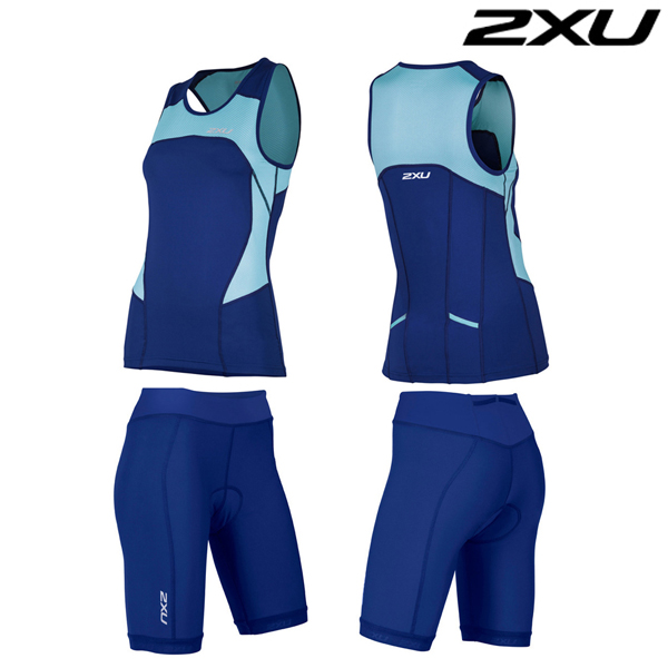 2XU 철인3종 경기복  Woman's Active Tri Set-WT4372a(BLA_NVY)