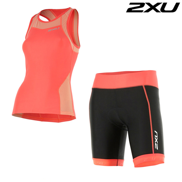 "2XU 철인3종 경기복  Woman's X-VENT ""7"" Tri Set-WT4368a"