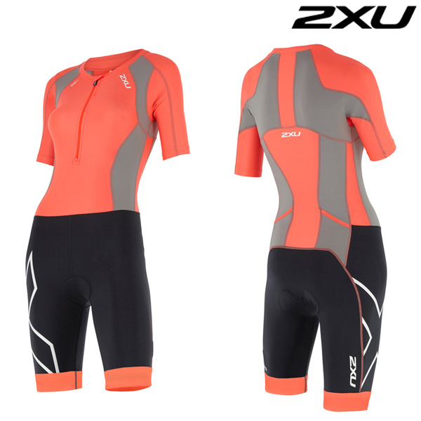 2XU(투엑스유)철인3종 경기복 Woman's Compression Sleeved Trisuit-WT4445d
