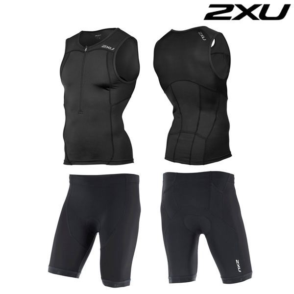 2XU 철인3종 경기복  Men's Active Tri Set-BLK-MT4362a