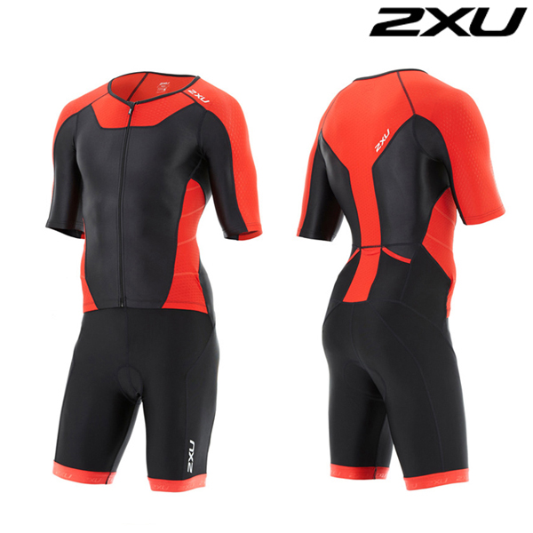 2XU 철인3종 경기복 Man's X-VENT Front Zip Trisuit-MT4355d(Red)