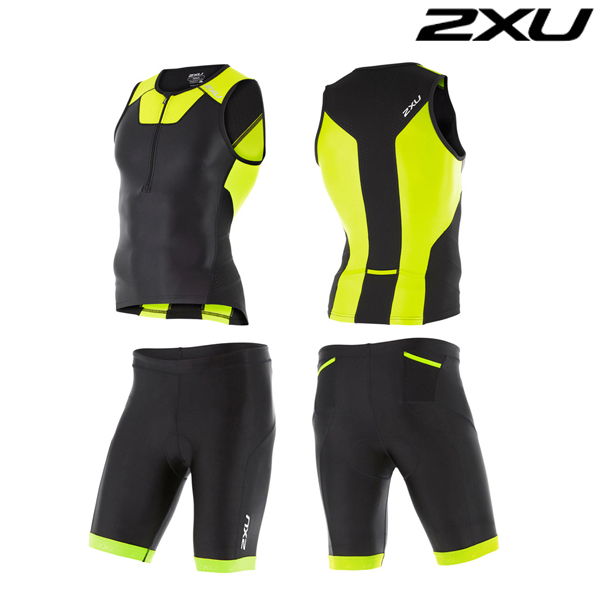 2XU 철인3종 경기복  Man's X-VENT Tri Set -MT4358a(Lime)