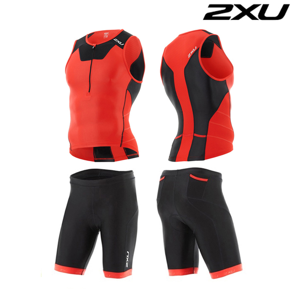 2XU 철인3종 경기복  Man's X-VENT Tri Set -MT4358a(Red)