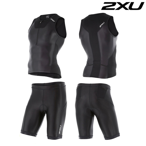 2XU 철인3종 경기복  Man's X-VENT Tri Set -MT4358a(Black)
