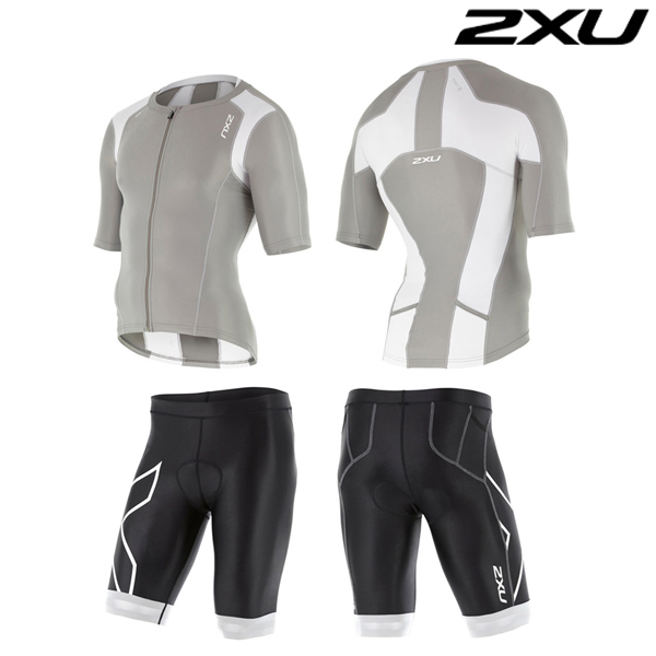 2XU 철인3종 경기복  Man's Compression Sleeved Tri Set-MT4439a(FRG_WHT)