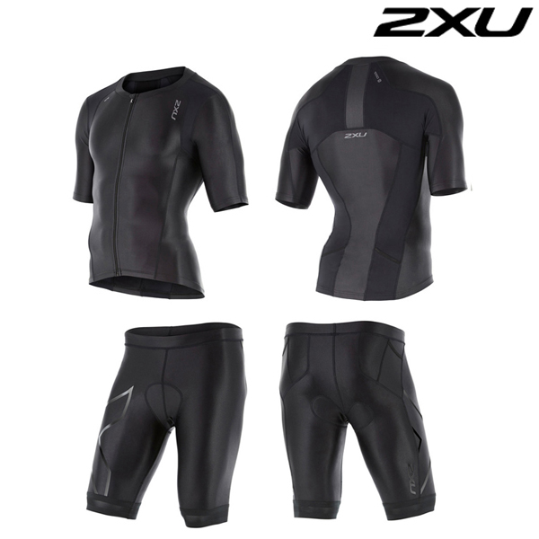 2XU 철인3종 경기복  Man's Compression Sleeved Tri Set -MT4439a(BLK)