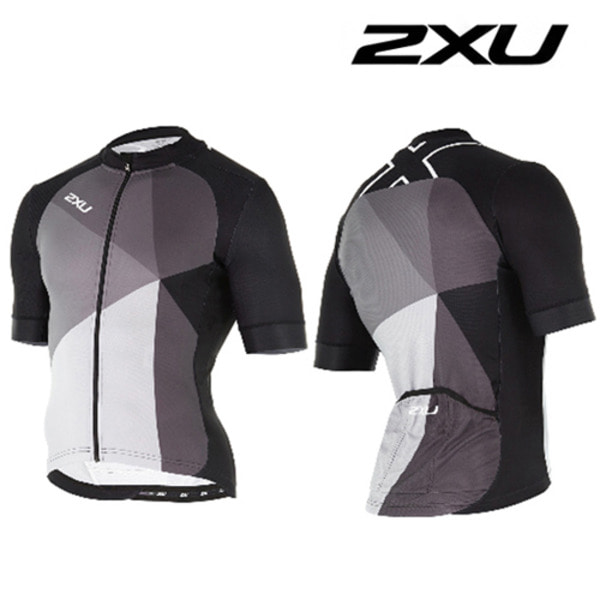 2XU 철인3종 경기복  2XU Men's Perform Pro Cycle Jersey(MC3717a) Black/Charcoa