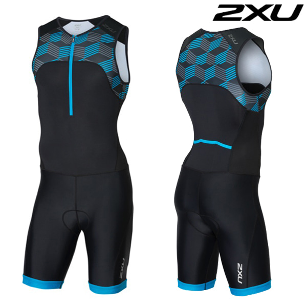 2XU 철인3종 경기복  Men's Active Trisuit-MT4862d(Black/Blue)