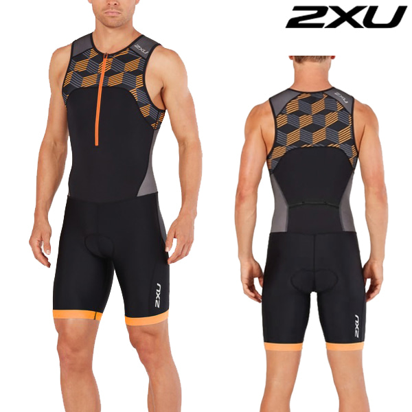2XU 철인3종 경기복  Men's Active Trisuit-MT4862d(Black/Orange)