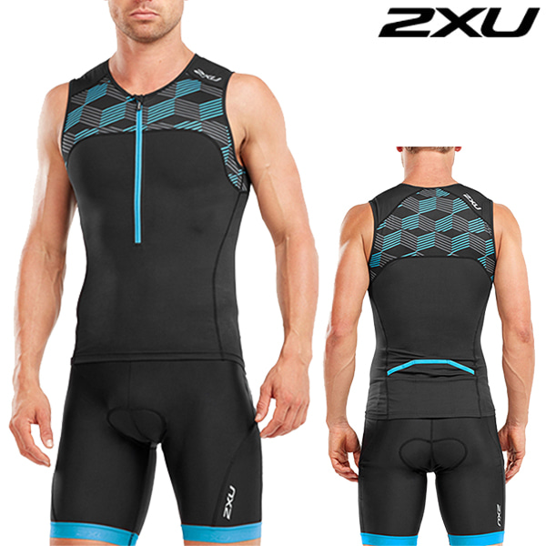 2XU 철인3종 경기복  Men's Active TrisuitMT4863a/MT4864b(Black/Bule)