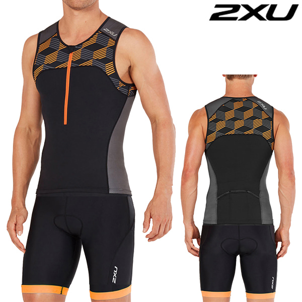 2XU 철인3종 경기복  Men's Active TrisuitMT4863a/MT4864b(Black/Orange)