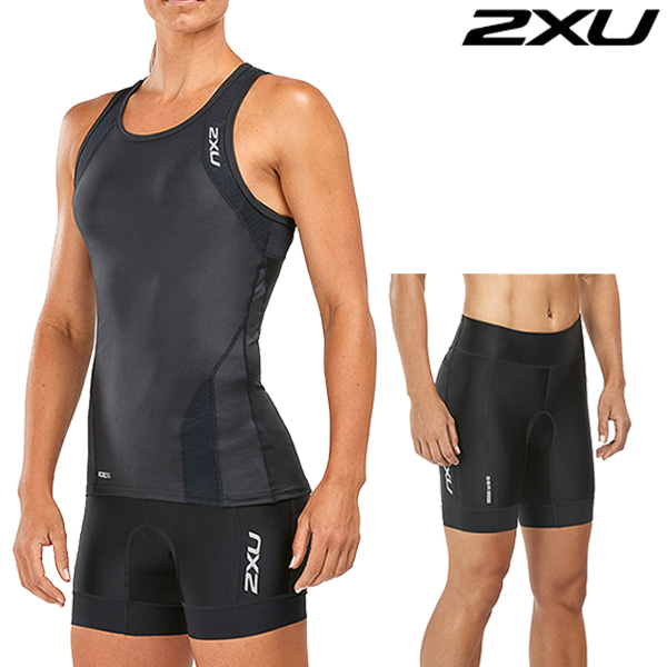 2XU(투엑스유)철인3종 경기복 Women's Perform Tri Set WT4857a/WT4861b(Black)