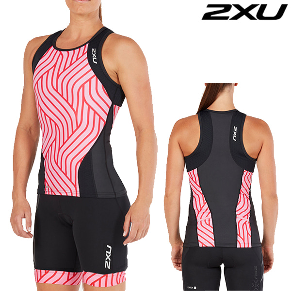 2XU 철인3종 경기복 Women's Perform Tri SetWT4857a/WT4861b(Black/Rose Pink Tide)
