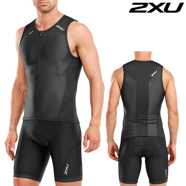 2XU 철인3종 경기복(투피스타입) Men's  Perform Tri setMT4851a/MT4854b(Black)