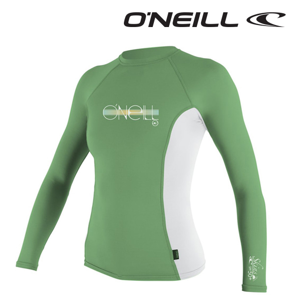 Oneill(오닐)주니어 래쉬가드 4176 GIRLS SKINS RASH GUARD - MINT WHT MINT
