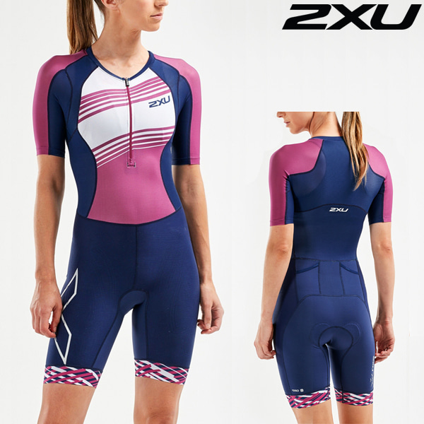 2XU(투엑스유)철인3종 경기복(원피스타입) Women's Compression Sleeved Trisuit-WT55221d-NVY/VBL