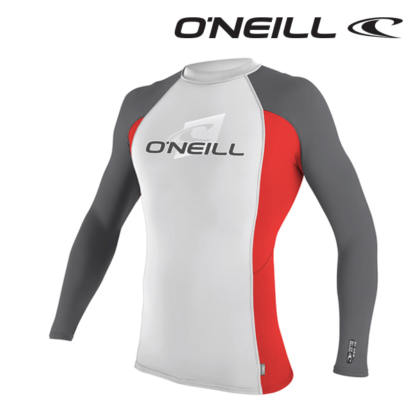 Oneill(오닐)남성 래쉬가드 4170 SKINS L/S CREW RASH GUARD - LUNAR RED SMOKE