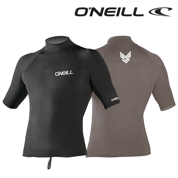 Oneill(오닐)남성 써모 발열 기능성 이너 기모 반팔 래쉬가드 - 0003 THERMO S/S CREW - A05 BLK/BLK/BLK