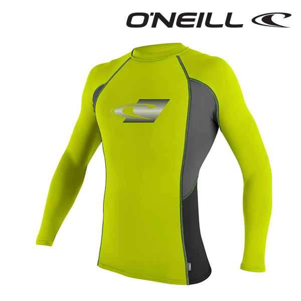 Oneill(오닐)남성 래쉬가드 4684 SKINS GRAPHIC RASH GUARD - LIME GPH BLACK