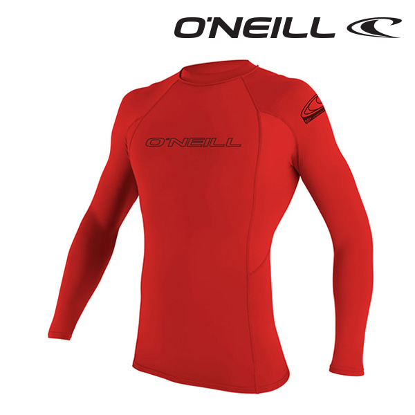 Oneill(오닐)남성 래쉬가드 3342 BASIC SKINS L/S RASH GUARD - RED