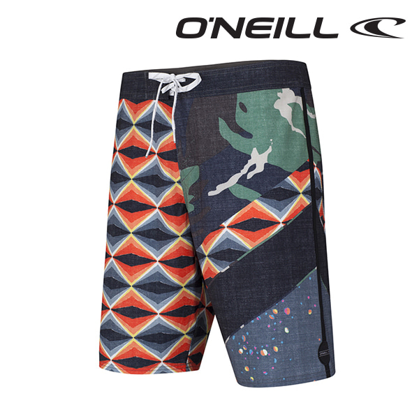 Oneill(오닐)남성 보드숏 503106 JORDY FREAK OUT BOARDSHORT - BLACK AOP
