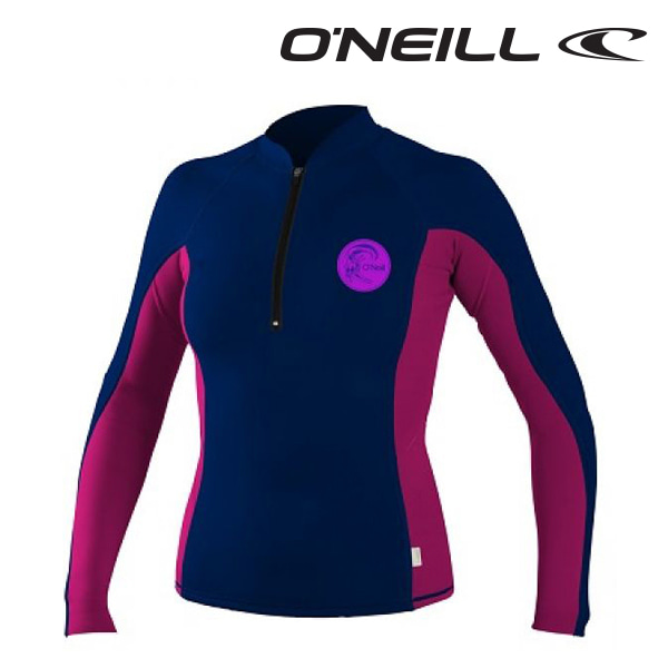 Oneill(오닐)여성 래쉬가드 4494 JRS FRONT ZIP - COBALT BERRY