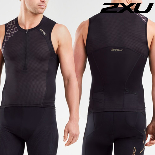 2XU 남성 철인3종 경기복 투피스 Men's Compression Tri Set MT5519a MT5520b BLK GLD