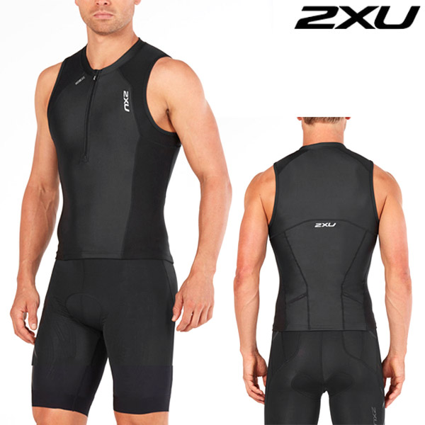 2XU 철인3종 경기복 Men's Compression Tri Set-Black MT4841a/MT4842b