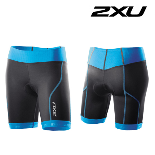 2XU(투엑스유)철인3종 경기복  Women's Perform Tri Shorts (WT2852b) Black/Ultramarine Blue