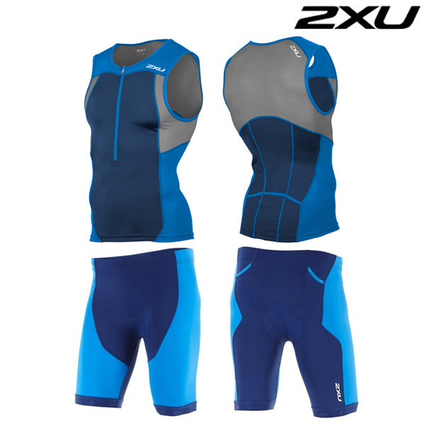 2XU(투엑스유)철인3종 경기복 Men's Active Tri Set-MT4362a(DIB_NVY)