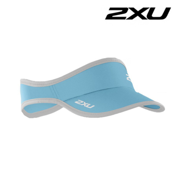 2XU Run Visor(런바이저)-Blue Atoll/White